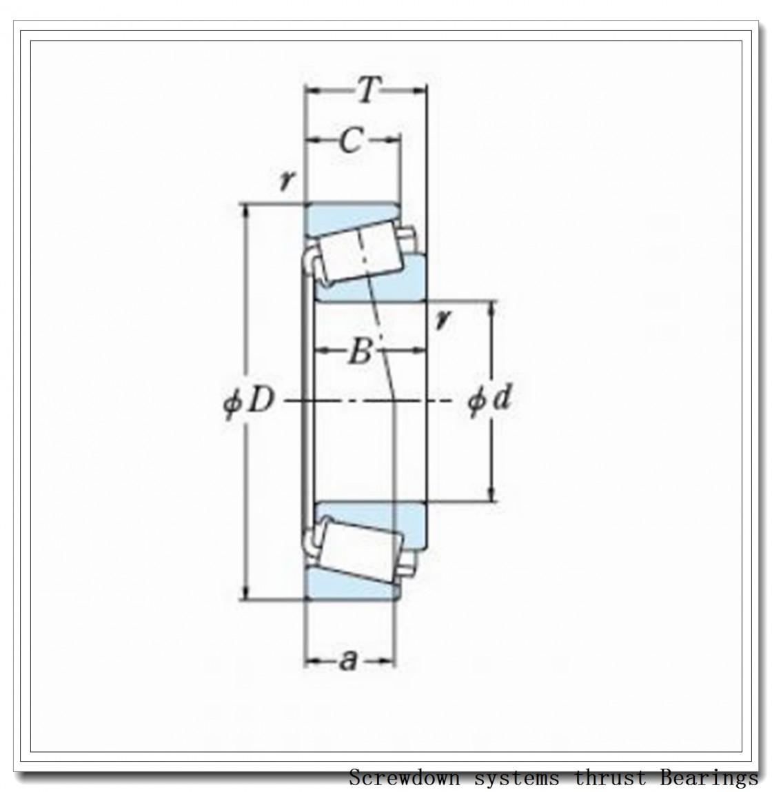 218TTsv946 screwdown systems thrust Bearings